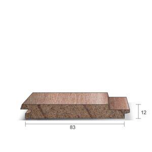 Schroot Meranti ca. 12x83x4000mm (werkend)