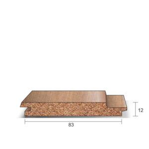 Schroot Western Red Cedar 12x83x3350mm (werkend)