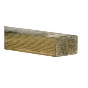 Vuren bouwhout geschaafd en gewolmaniseerd ca. 44x95x4800mm